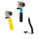 FOCUS ON OUR DIFFERENT HANDLES FOR GOPRO CAMERA